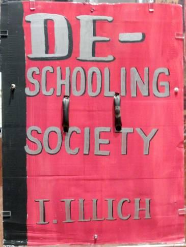 De-schooling Society, London Book Bloc, 2011, plexiglass and cardboard